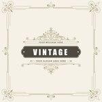 Vintage ornamental greeting card