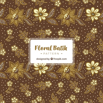 Vintage pattern of batik flowers