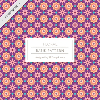 Vintage pattern of flowers and geometric shapes