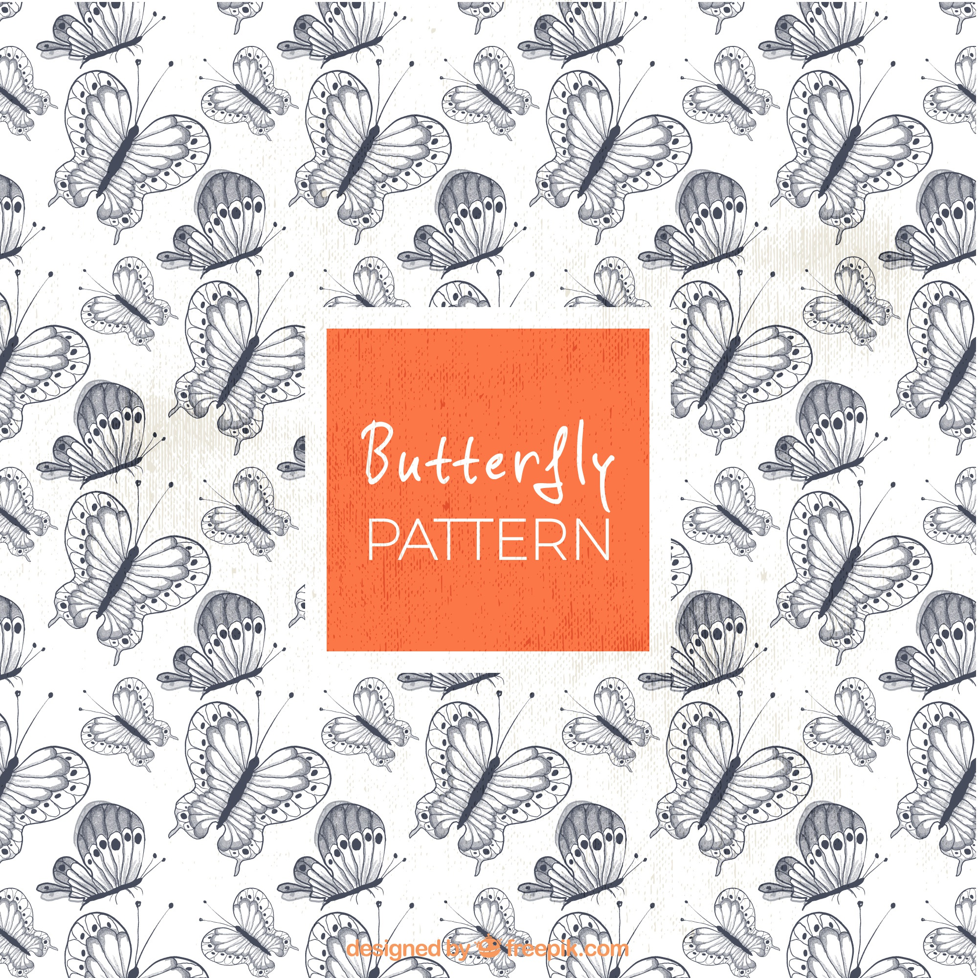Vintage pattern of pretty butterflies