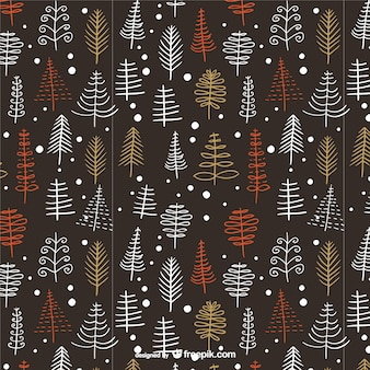 Vintage pattern with Christmas trees