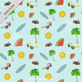 Vintage pattern with summer elements