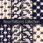 Vintage patterns of roses