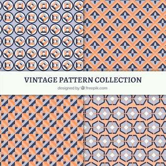 Vintage patterns set of geometric shapes