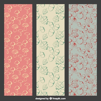 Vintage patterns with forest items