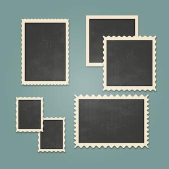 Vintage photo frames set