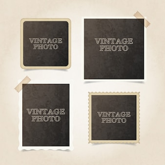 Vintage photography frames pack