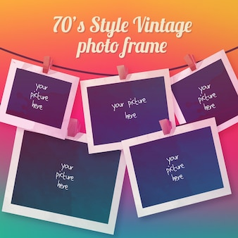 Vintage photography frames set