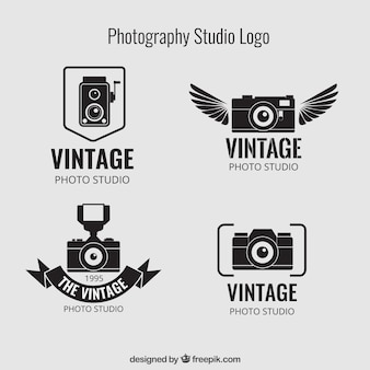 Vintage photography studio logos