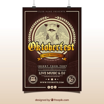オクトーバーフェストのビンテージポスター