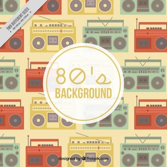 Vintage radio cassette background