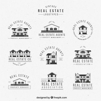 Vintage real estate logotype collection