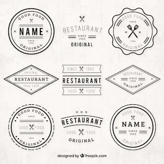Vintage restaurant logos pack