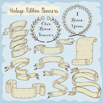Vintage ribbons collection