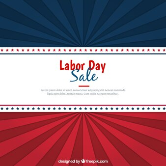 Vintage sale background of labor day in usa