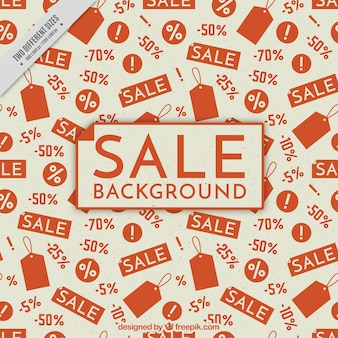 Vintage sale background with red elements