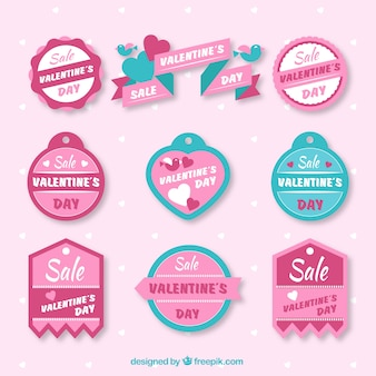 Vintage sale valentine badges