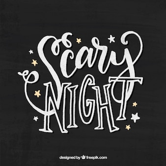 Vintage  scary night  lettering