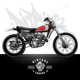 ヴィンテージスクランブラーオートバイポスター