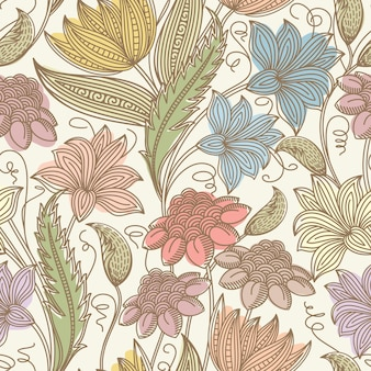 Vintage seamless floral background