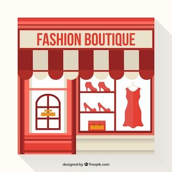 Vintage shop window of vintage fashion store