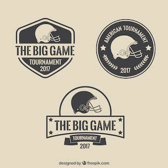 Vintage simple Super Bowl badges