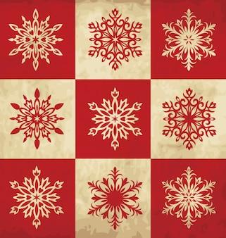 Vintage snowflake set