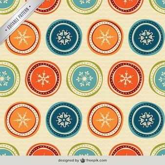 Vintage snowflakes pattern
