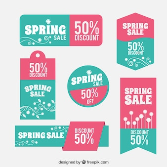 Vintage Spring Sale Labels Collection