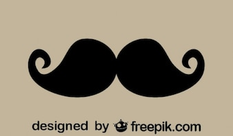 Vintage Stilish Mustache Icon