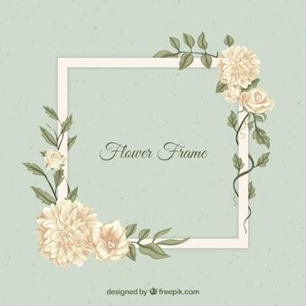 Vintage-style floral frame