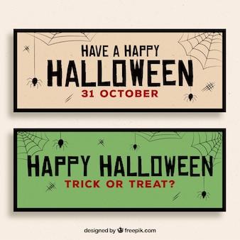 Баннеры Хэллоуина в стиле винтажа