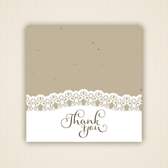 Vintage style thank you card