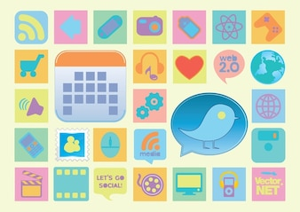 Vintage Style Vector Icons
