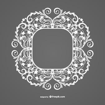 ヴィンテージスタイルの白いフレームテンプレート