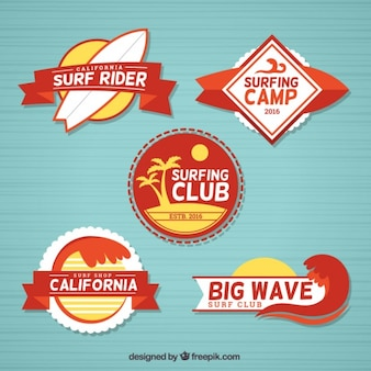 Vintage surf label collection
