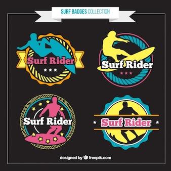 Vintage surfer badges