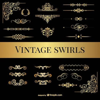 Vintage swirls pack