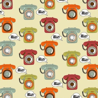 Vintage telephone background