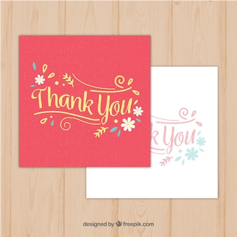 Vintage thank you greeting cards