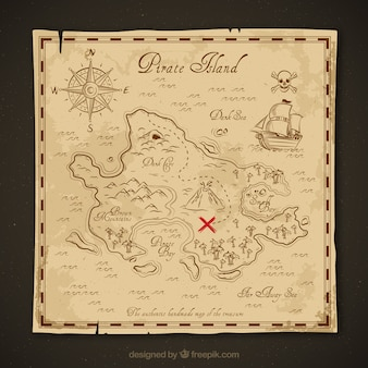 Vintage treasure map