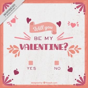 Vintage valentine background with question