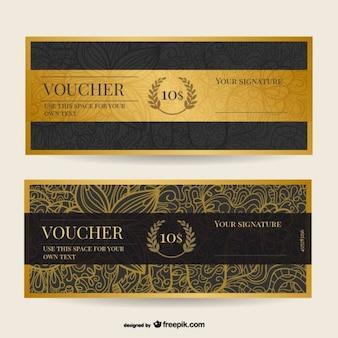 Vintage voucher template