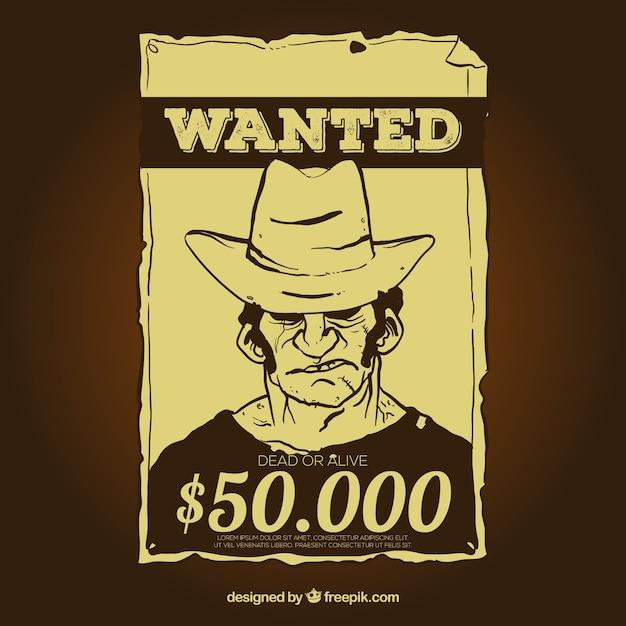 wanted reward template