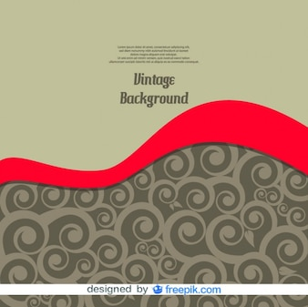 Vintage Wave Vector Background