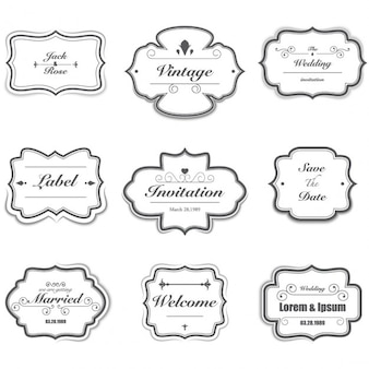 Vintage wedding badges