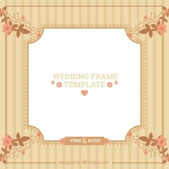 Vintage wedding frame template