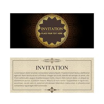 Vintage wedding invitation banner template