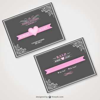 Vintage wedding invitation free for download