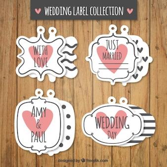 Vintage wedding label set